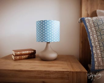 Blue spotty children's  touch lamp
