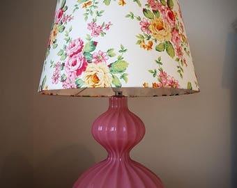 Vintage Pink Rose lamp[