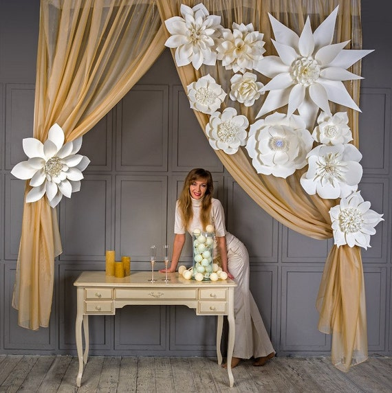 wedding decorations backdrop large paper flowers flowers paper flower 9081