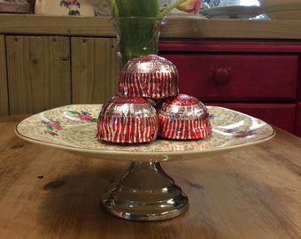 1950's Flowery Cake Stand.