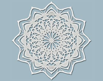 "Template ""0508 mandala"" (silhouette) for textiles, walls, canvas, decoration, window, furniture..."
