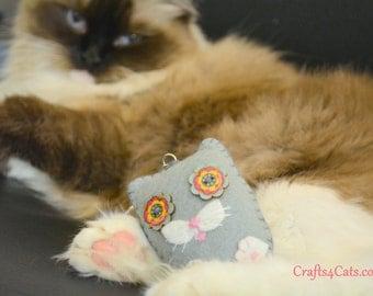 Small Felt Cat Key Ring - Felt Cat Ornament - Plush Cat Key Ring Handbag Decorations - Gift for Cat Lovers - Kawaii Plushie