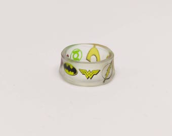 Justice League Resin Ring