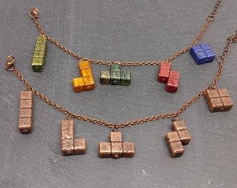 Tetris Charm Bracelet