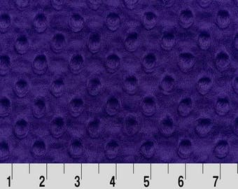 Shannon Minky Fabric, Shannon Dimple Dot Minky, Purple Dimple Dot Minky, Purple Minky Fabric, Purple Minky, Minky Fabric By The Yard