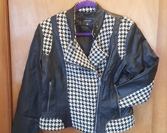 Houndstooth Patterned Vintage Jacket