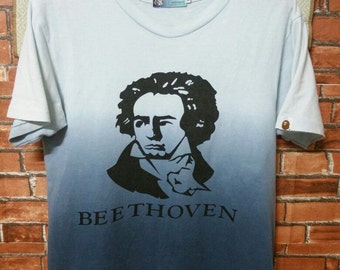 SUPER RARE A Bathing Ape Vintage Beethoven Shirt Made With General T-Shirts Size S Small