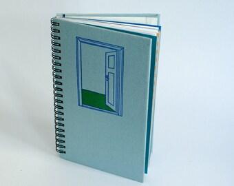 Notebook door / / spiral binding Upcycling