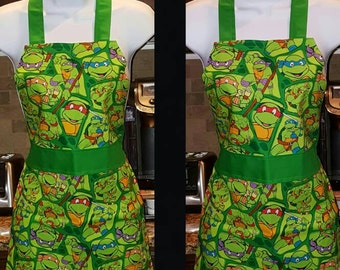Children's Apron Ninja Turtles Pattern
