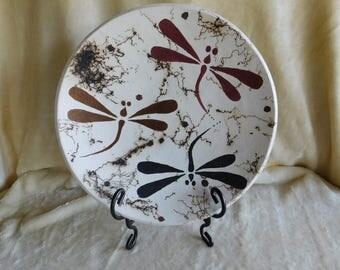 Terra Sig Dragonfly Platter with Horsehair