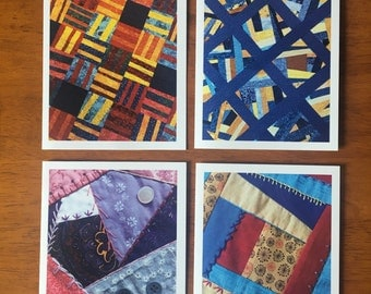 "Quilt Note Cards and Envelopes, Blank Note Card Set, Photo Note Cards, Set of 8, A2 4.25"" x 5.5"""
