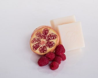 Pomegranate and Raspberry Soap, Luxury Soap, Cocoa Butter Soap, Natural Soap, Gifts For Her, Handmade Soap