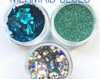 Mermaid Blues Glitter Combo 5g Pots