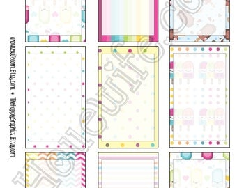 Happy Planner stickers [254] , Full box, A5 PDF, Instant download