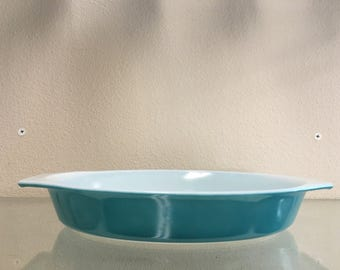 Pyrex Horizon Blue Oval 1 1/2 Quart Casserole
