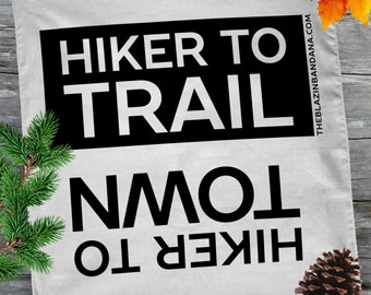 Hiker Bandana - White - For Thru Hiking AT (Appalachian Trail), PCT, CDT Lightweight Outdoor Hiker to Town Hiker to Trail Bandanna