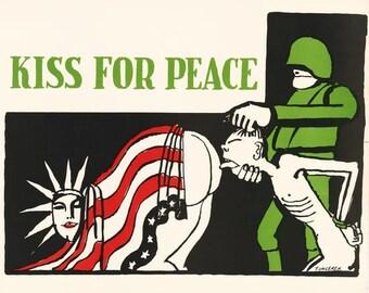 Vintage Anti Vietnam War Poster A3 Print