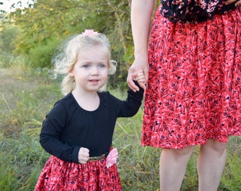 Mommy and me dress, size 2-4T dress, rose print dress, special occasion dress, family photo shoot dress