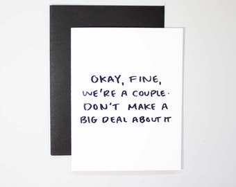 Funny Valentines Day Card / V-day Card / Vday Greeting Card / Relationship Card / Girlfriend Greeting Card / Boyfriend Card / Real Foil Card
