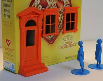 Cereal box doll house