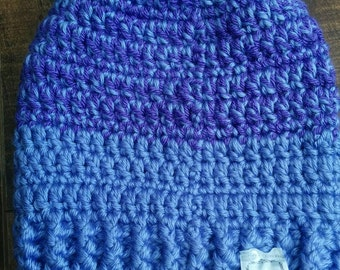 Tuque slouchy for child handmade crochet