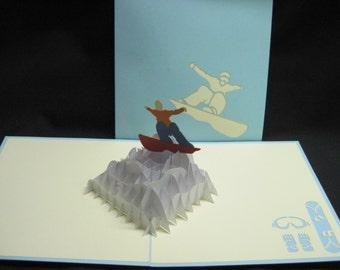 3-D Snow Board Pop-Up Card