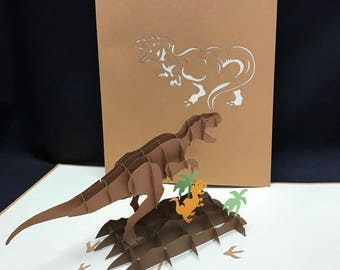 Dino 3-d pop up card