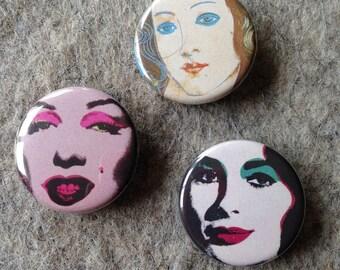 Warhol Women button set
