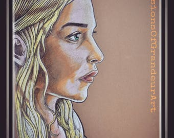 A5 Game Of Thrones Daenerys Targaryen art print