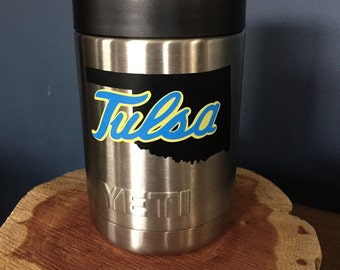 Tulsa Decal, college decal,  University of Tulsa Yeti decal, Oklahoma