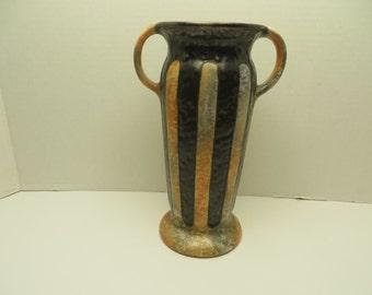 Art Deco Czech Art Pottery Ditmar Urbach Alienware Vase # 10914
