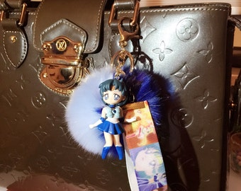 Sailor Moon sailor Merkur Keyring Keychain kawaii anime manga