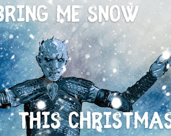 The Night's King Game of Thrones/ASOIAF Christmas Card