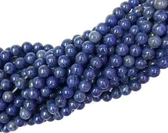 Dumortierite Beads Round 8mm 10mm 12mm Natural Blue Dumortierite Beads Blue Gemstone Beads Navy Blue Semi Precious stone Beads 12mm 14mm