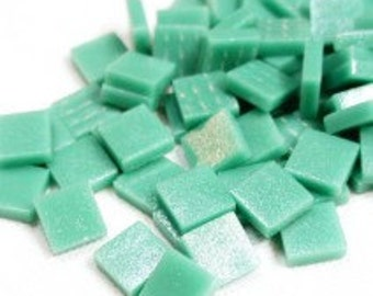 12mm Mosaic Craft Tiles - Emerald Green Matte - 50g