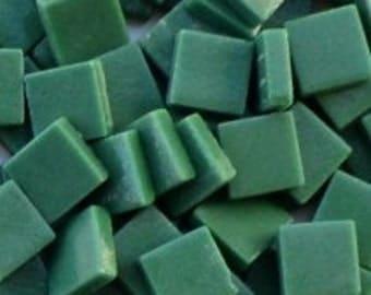 12mm Mosaic Craft Tiles - Spruce Green Matte - 50g