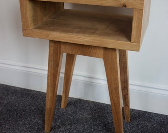 Bedside table, Night Stand, Side Table in reclaimed ash