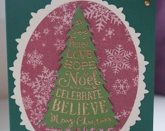 Christmas card - Merry Christmas tree
