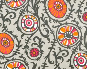 3 yards Premier Prints Suzani Vine Sherbet-Gray Twill