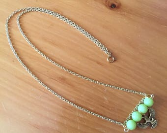 Lime Green Goddess Necklace