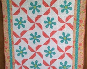 Petals and Pinwheels Quilt Pattern
