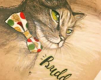 Custom Drawing Of Your Kitty • Creative Cat Lover Gift • Cat Sketch