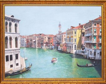 A View of the Grand Canal, Venice (oils, 2017)