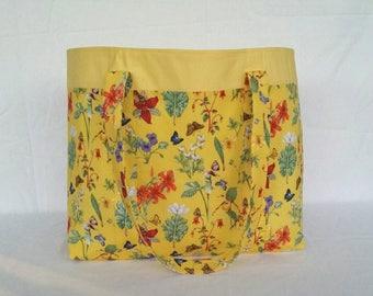 Tote, Jules Tote Bag, Shopping Bag, Reusable Bag, Carryall Bag, Market Bag, Flowers, Fashion Accessories,Shoulder Bag, Tote Bag