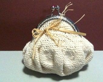 Cotton purse, handmade croshet purse, croshet purse,  vintage purse, spesial gift from her