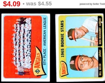 Vintage California Angels 1965 Topps 2 Card Lot GD-VG