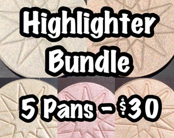Highlighter Bundle - You choose 5 colors (pans only) + Free U.S. Shipping!
