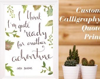 Custom Calligraphy Print    Calligraphy Print    Wedding Calligraphy    Calligraphy Quote    Wall Art