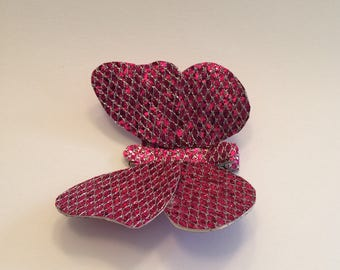 Butterfly Bow,Sparkle Butterfly Bows, Unique Bows, Butterfly Hairclip, Sparkle Butterfly Bows