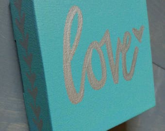 4x4 Love Canvas Sign.